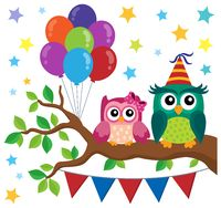 Party owls theme image 6