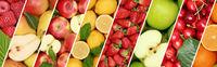 Früchte Frucht Obst Essen Hintergrund Banner Sammlung Orange Äpfel Zitrone Apfel