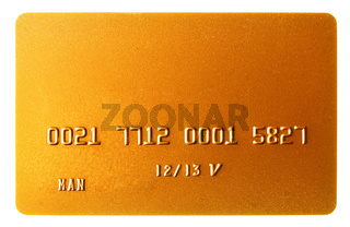Gold credit card