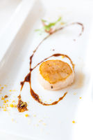 Grilled fried scallop