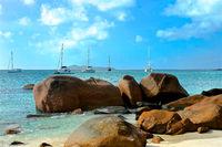 Island of Praslin at Seychelles