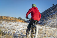 fat bike riding in winter Colorado landscape