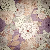 Floral Seamless Grunge Pattern