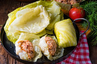 Prepare the stuffed cabbage rolls