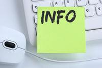 Info Infos Information Informationen News Nachrichten Konzept Maus