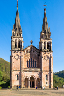 Church and Cave of worship, Covadonga is one point of the north route the Camino de Santiago