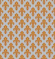 Royal Heraldic Lilies, seamless pattern