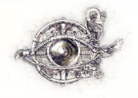 Sketch of a technical-mechanical eye