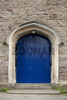 A gothic doorway in a church   in england