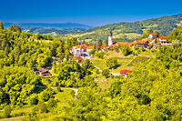 Green region of Zagorje and town Klanjec view