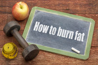 How to burn fat concept on blackboard