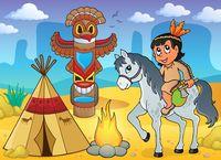 Native American boy theme image 4