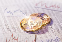 Unstable course of the cryptocurrency Bitcoin