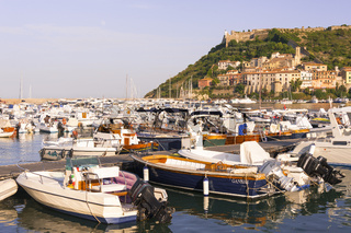 Port'Ercole Küstenstadt in der Maremma, Toskana, Italien