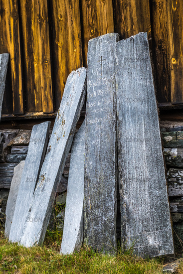 Old stone plates in Norway