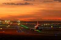 airport in the evening