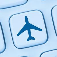 Reisen Urlaub online buchen Shopping E-Commerce einkaufen Internet blau Computer web