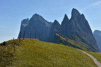 Dolomite alps; South Tyrol; Italy; natural preserve puez-geisler; Fermeda;