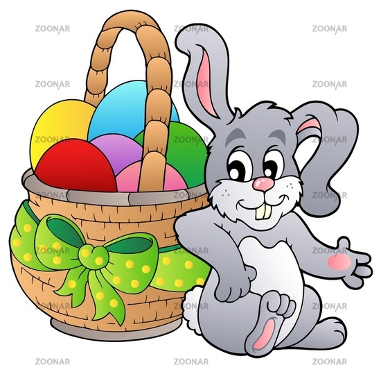 easter eggs pictures to colour. Basket with Easter eggs and