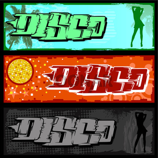 Graffiti Disco Banner
