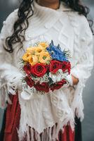 Wedding bouquet in bridals hand