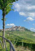 Village of La Morra in Piedmont near Asti and Barolo,Italy