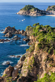 Costa Brava Sea Coast in Tossa de Mar