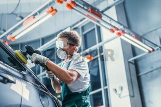 Mechanic in overalls
