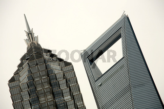 Jin Mao Tower und Shanghai World Financial Center