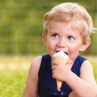 toddler infant boy eat ice cream