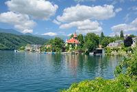 Village of Millstatt am See at Lake Millstatt,Carinthia,Austria