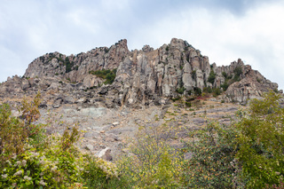 weathered rocks of Demerdzhi Mountain in park