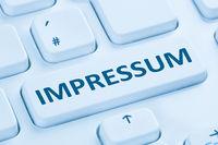 Impressum rechtliche Information AGB Info Firma Internet blau Computer Tastatur
