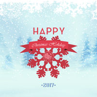 Winter Christmas Holiday Background