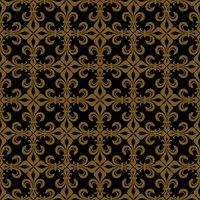 Lace-de-Luce (Lace of Lilies), Rich bronze seamless pattern