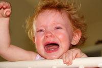 Very upset little girl drowned in tears