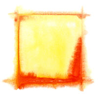 Yellow-red watercolor frame