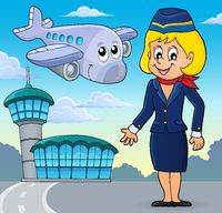 Aviation theme image 2 - picture illustration.