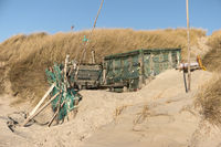 Beach Huts and other Objects out of Flotsam and Jetsam