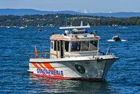 Speedboat JT-702 Nérée of the lake brigade of the police, Lake Geneva, Gland, Switzerland