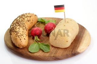 Harzer Käse mit Flagge
