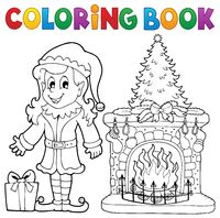 Coloring book Christmas thematics 7
