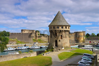 Brest Burg in der Bretagne, Frankreich - Brest castle and Tanguy tower in Brittany, France