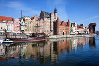 Gdansk Old Town River View