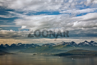 Cloudscape over the mountains in Molde, Norway