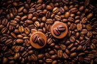 Belgian pralines with coffee flavor.