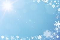 Schnee als Hintergrund zu Weihnachten
