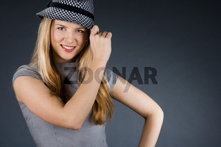 pretty girl with a hat