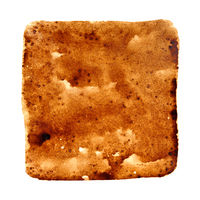 Square stain of coffee