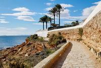Paved promenade of Cabo Roig. Costa Blanca. Spain